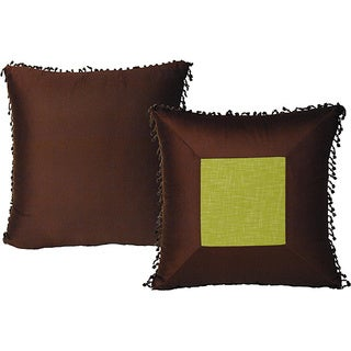Rain Forest Square Pillows Brown/Green (Set of 2)