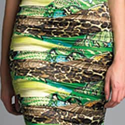 Issue New York Women's Green Animal Cross-front Dress