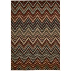 Nourison Vogue Multicolor Geometric Polypropylene Rug (7'9 x 9'9)