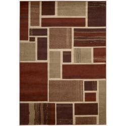 Nourison Vogue Red Geometric Rug ( 5'3 x 7' )