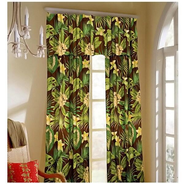 Rain Forest Curtain Panel Pair with Tiebacks