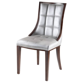 Barrel Leather Dining Chairs (Set of 2)