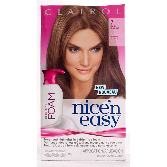 Clairol Nice'n Easy Foam #7 Dark Blonde Hair Color