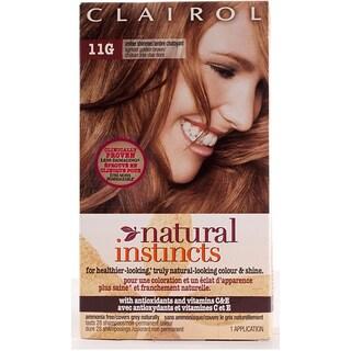 Clairol Natural Instincts #11G Amber Shimmer Lightest Golden Brown Hair Color (Pack of 4)