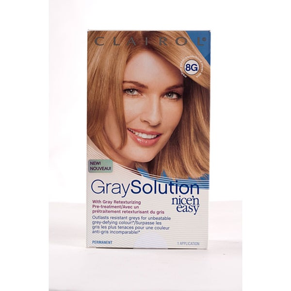 Clairol Gray Solution Nice'n Easy #8G Medium Golden Blonde (Pack of 4)