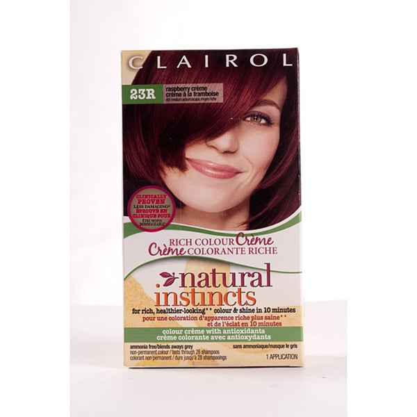 Clairol Natural Instincts #23R Raspberry Creme Hair Color (Pack of 4)