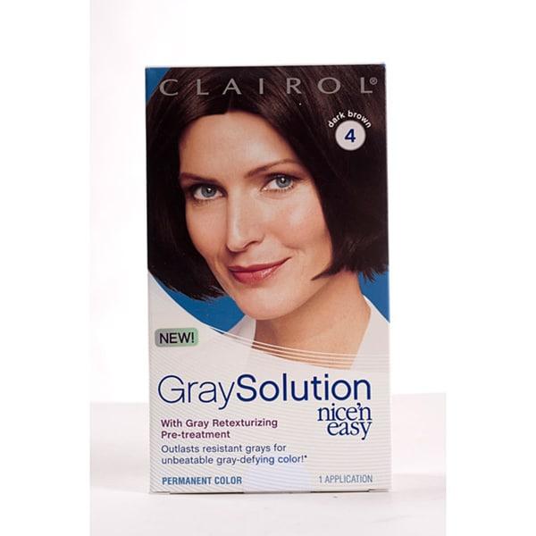 Clairol Gray Solution Nice'n Easy #4 Dark Brown (Pack of 4)