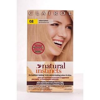 Clairol Natural Instincts #02 Sahara Light Blonde Hair Color (Pack of 4)