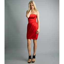 Issue New York Women's Sienna Pleated Bubble Hem Strapless Dress