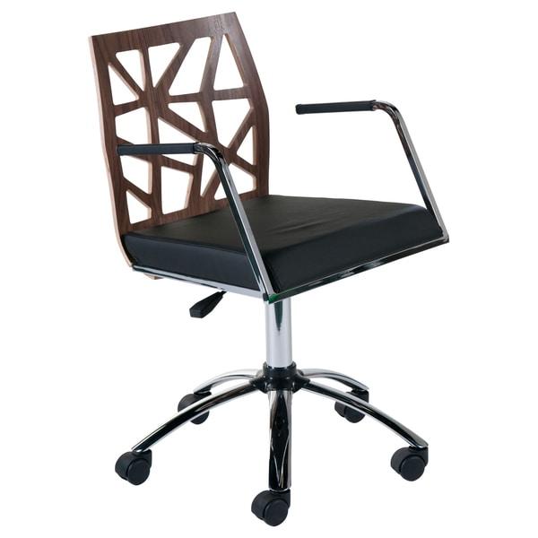 Sophia Walnut/ Black Office Chair