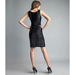 Issue New York Women's Black Fringe Beaded Cocktail Dress