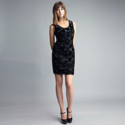 Issue New York Women's Black Rosette Cocktail Dress