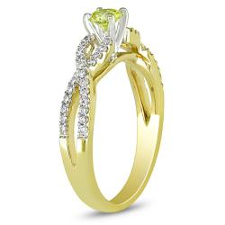 Miadora 14k Yellow Gold 1/2ct TDW Yellow and White Diamond Ring (G-H, I1-I2)