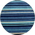 Hand-tufted Blue Cosmo Round Wool Rug (6' x 6')