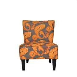 angelo:HOME Davis Desert Sunset Brown Paisley Armless Chair