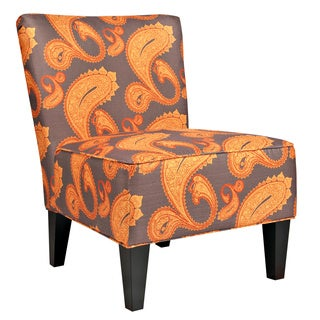 Portfolio Hali Brown Paisley Armless Chair