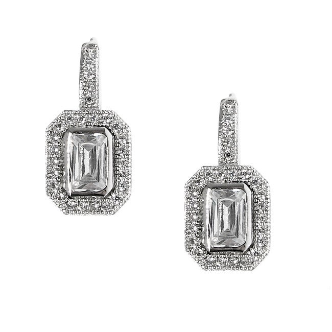 Moise Sterling Silver Emerald- and Round-cut Cubic Zirconia Earrings at Sears.com