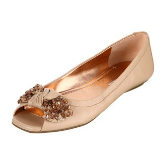 BCBGeneration Women's 'Channa' Peep-toe Flats