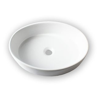 Elise Ceramic Bathroom White Vessel Sink