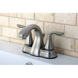 Satin Nickel Double-handle Bathroom Faucet