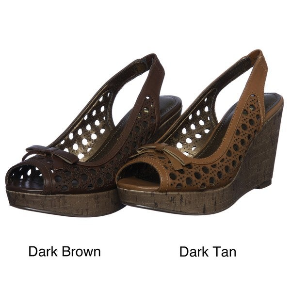 Report Women's 'Duffy' Leather Wedge Sandals FINAL SALE