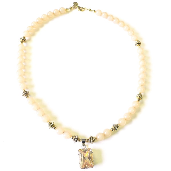 'Champagne and Sand' Necklace and Earring Set