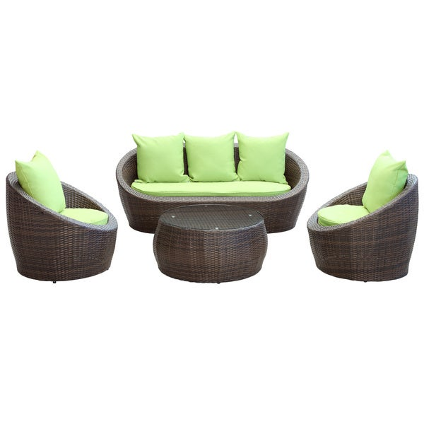 Avo Outdoor Living Brown 4-Piece Wicker Patio Set
