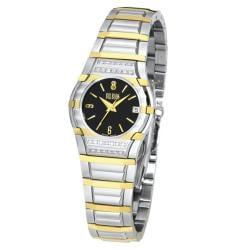 Bill Blass Women's Two-tone Black Dial Watch