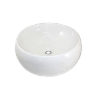 Monch White Ceramic Vessel Bathroom Sink