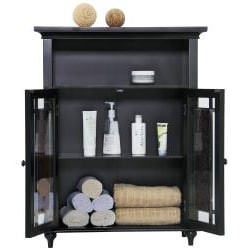 Jezzebel Double-door 3-shelf Floor Cabinet