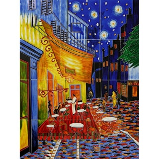 Van Gogh 'Cafe Terrace at Night' Mural Wall Tiles