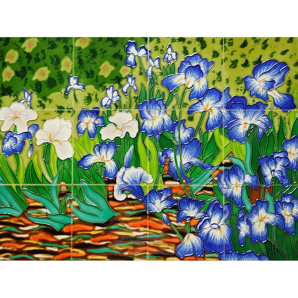 Van Gogh 'Irises' Mural Wall Tiles