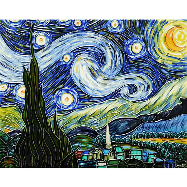 Van Gogh 'Starry Night' Wall Tile