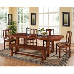 Dark Oak 6-piece Wood Dining Set