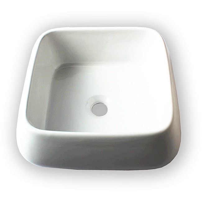 Flotera Jewel White Ceramic Vessel Bathroom Sink