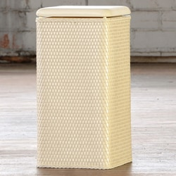 Carter Ivory Laundry Hamper