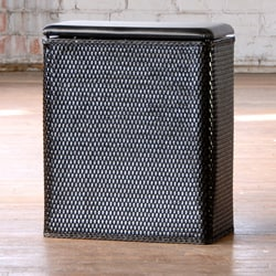 Carter Black Upright Laundry Hamper