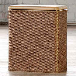 Carter Cappuccino Upright Laundry Hamper