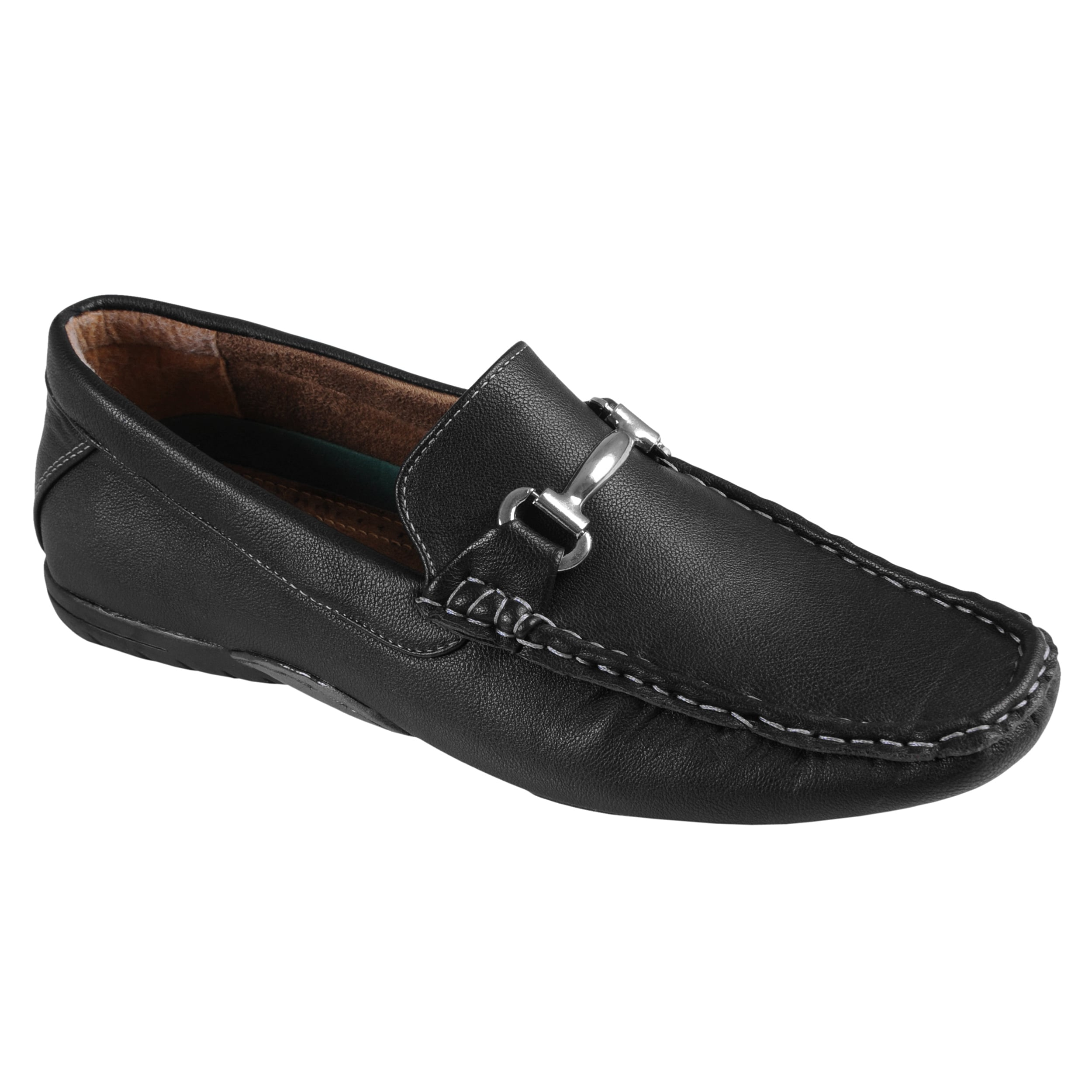 Oxford and Finch Men's Topstitched Hardware Accent Loafers