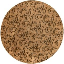Hand-tufted Natural Adoni New Zealand Wool Rug (8' Round)