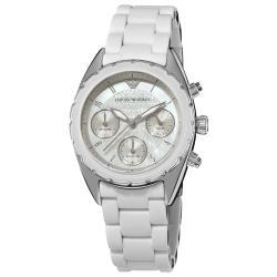 Emporio Armani Women's 'Sport' White Silicone Bracelet Watch