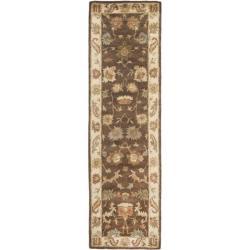 Safavieh Handmade Zeigler Brown/ Ivory Hand-spun Wool Rug (2'3 x 8')