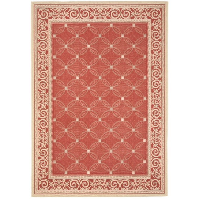 Safavieh Indoor Outdoor Area Red Natural Rug 2 7 x 5