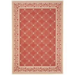 Safavieh Indoor/ Outdoor Area Red/ Natural Rug (2'7 x 5')