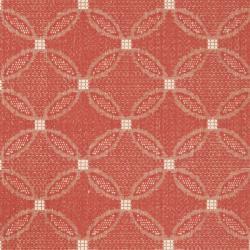 Indoor Outdoor Area Red/ Natural Rug (5'3 x 7'7)