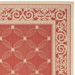 Red/Natural Indoor/Outdoor Polypropylene Rug (8' x 11'2
