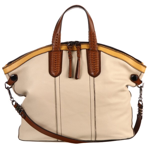 Oryany Sydney Convertible Leather Tote Bag