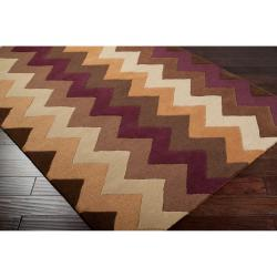 Hand-tufted Brown Krugman New Zealand Wool Rug (3'3 x 5'3)