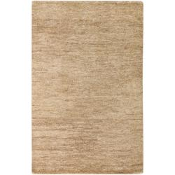 Hand-woven Beige Foundary Natural Fiber Hemp Rug