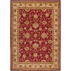 Woven Red Mediaite Olefin Rug (7'10 x 10'3)